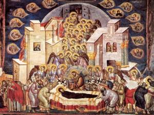 28 августа 2013года, верующие отмечают Успение Пресвятой Богородицы