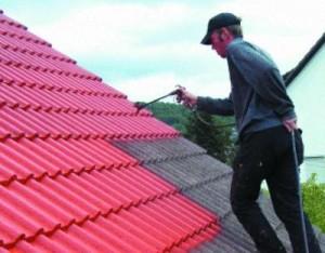 Красим шиферную крышу
