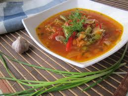 Суп из фаршированной картошкой
