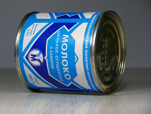 Украинское сгущенное молоко возвращено отправителю