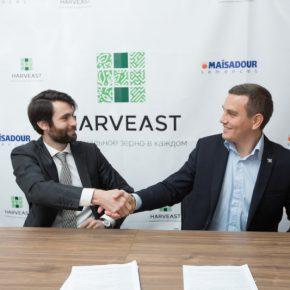 Подписание договора между компаниями HarvEast и Maisadour по сотрудничеству в выращивании семян подсолнечника (5 апреля 2017 год)