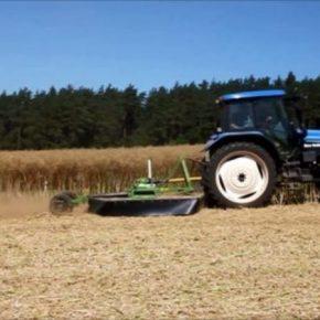 Изобретатель создал машину для уничтожения стерни кукурузы