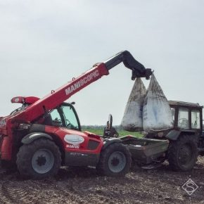 На полях Полтавщины начались работы по внесению минеральных удобрений