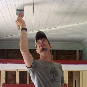 Внутренние отделочные работы:краска для потолка